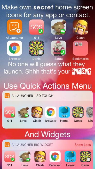 Ai Launcher: ショートカットアイコンメーカーのおすすめ画像1