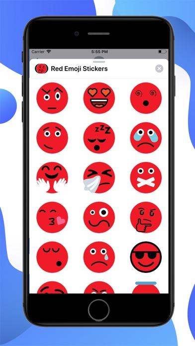 Red Emoji Stickers screenshot 1