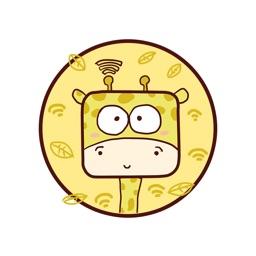 奔跑吧小黄长颈鹿