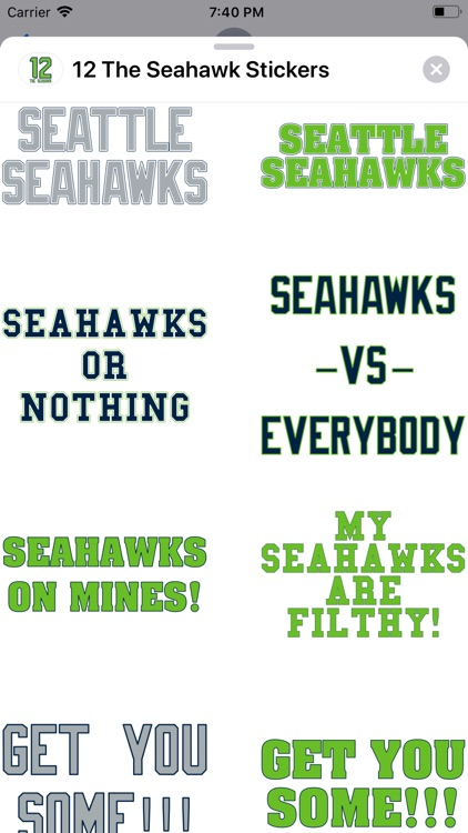 12 The Seahawk Stickers screenshot-3