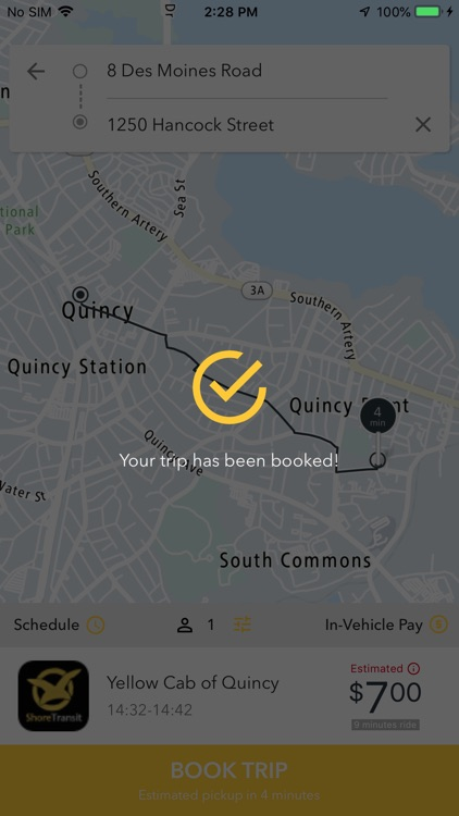 Yellow Cab of Quincy screenshot-3