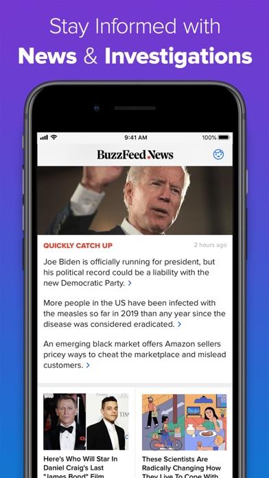 Buzzfeed review screenshots