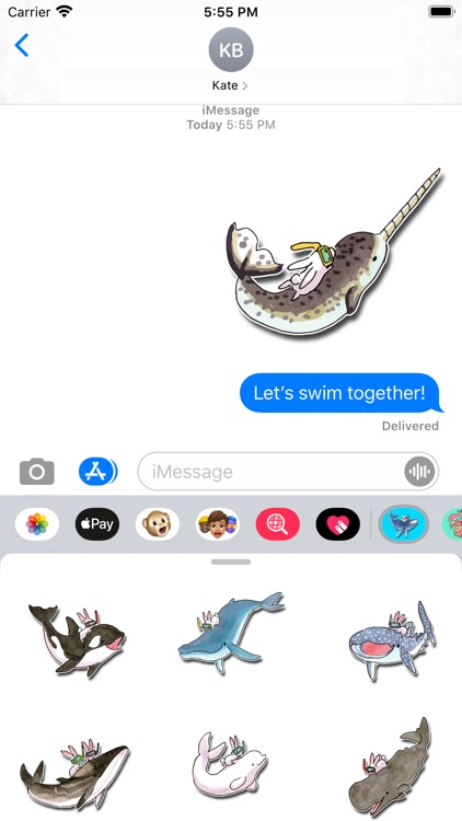 Whales and Bunnies Stickers