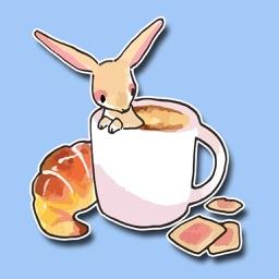 Tea Time Bunny Stickers