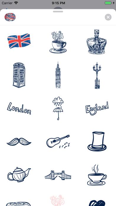 Love London Doodle Stickerpack screenshot 2