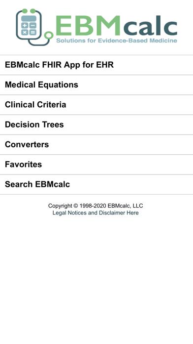 EBMcalc Pulmonary screenshot one
