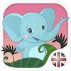 子供のためのベニーと英語。色や数字、挨拶や家族、食べ物や果物、動物や単語の発音を覚えている:フラッシュカードで英語を学ぶ 無料 - iPhoneアプリ