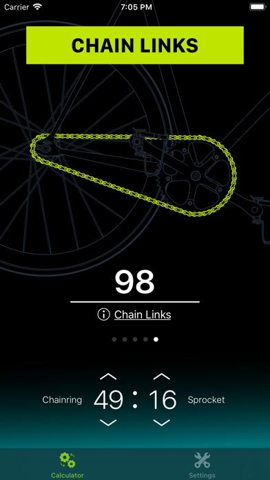 Chainring: Gear Ratio Calc Screenshot