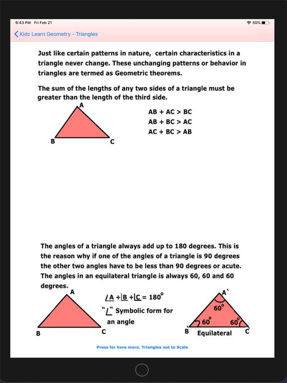 Triangles in Geometry screenshot 9