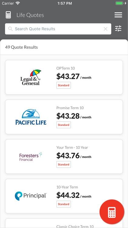 Life Insurance Quotes Engine screenshot-3