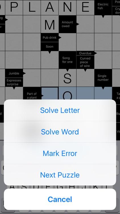Clean Crosswords screenshot-3