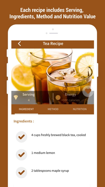 Easy Healthy Tea Recipes screenshot-4