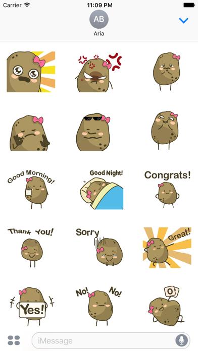 Animated Lovely Ms Potato screenshot 2