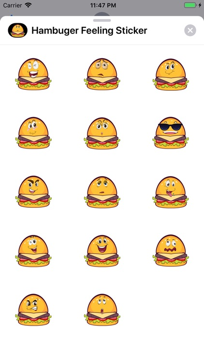 Hambuger Feeling Sticker