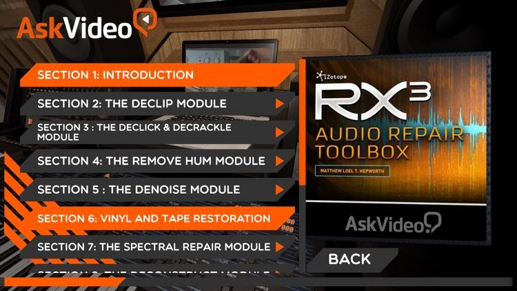 Audio Repair Course For RX3