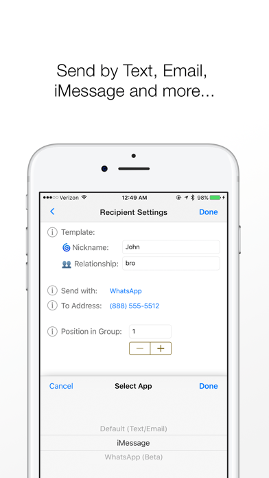 Reach: Mass Text, Email Blast Screenshot