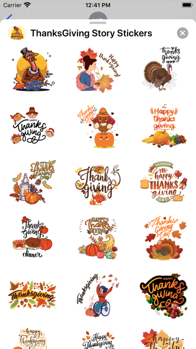 ThanksGiving Story Stickers screenshot 2