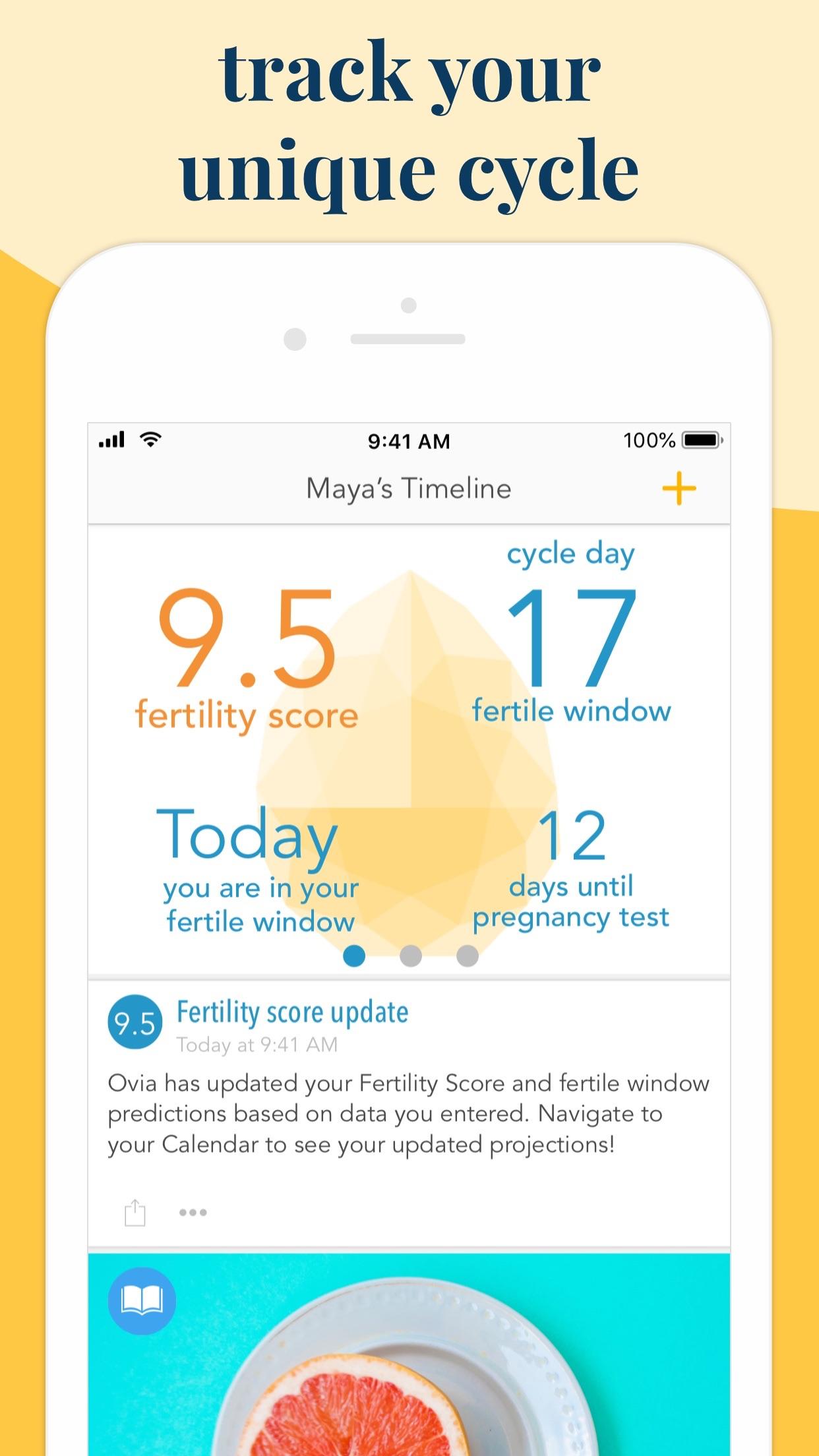 Ovia Fertility & Cycle Tracker Screenshot