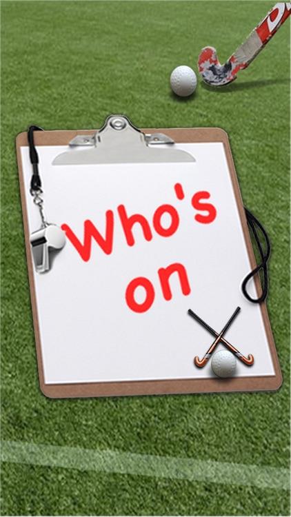 Who's On - Field Hockey