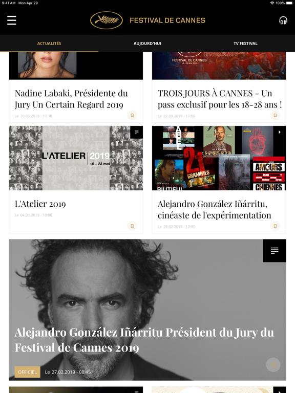 Festival de Cannes - Officiel iPad