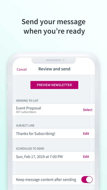 Curate: Simple Email Marketing screenshot-5