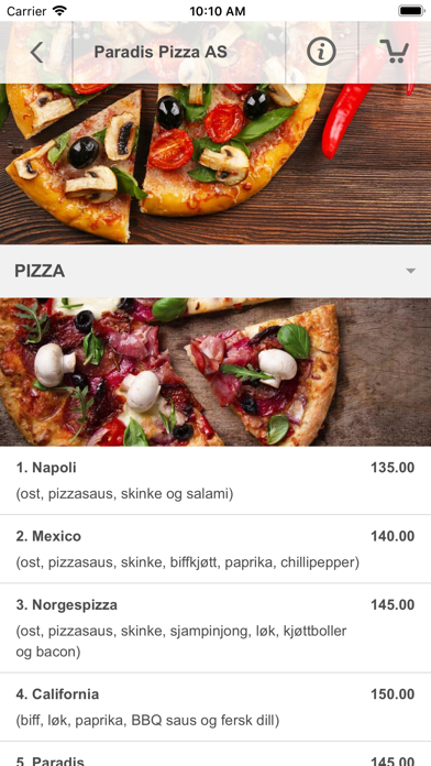 Paradis Pizza AS screenshot 3