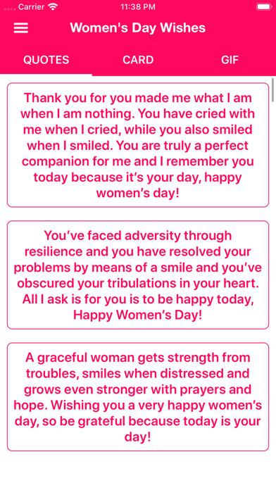Women's Day Wishes screenshot 1