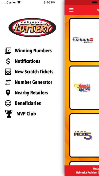 Nebraska Lottery screenshot two