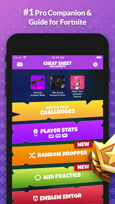 Cheat Sheet Guide for Fortnite screenshot one