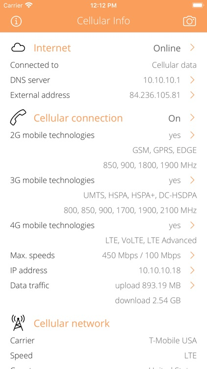 Cellular Info screenshot-0