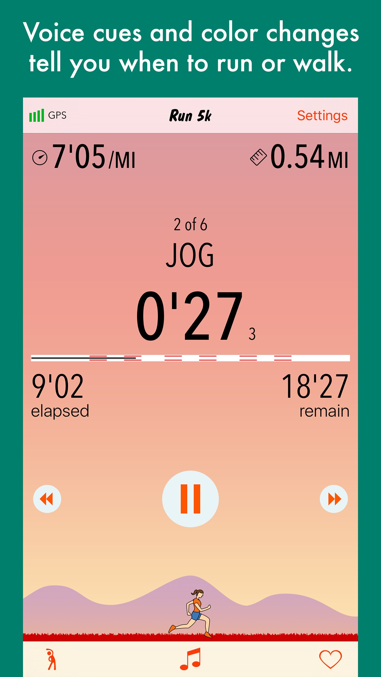Run 5k - couch to 5k program Screenshot