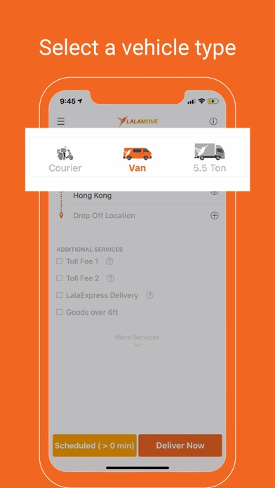Lalamove - Fast Delivery App screenshot one