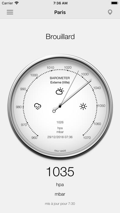 Screenshot #1 pour Baromètre - Pression