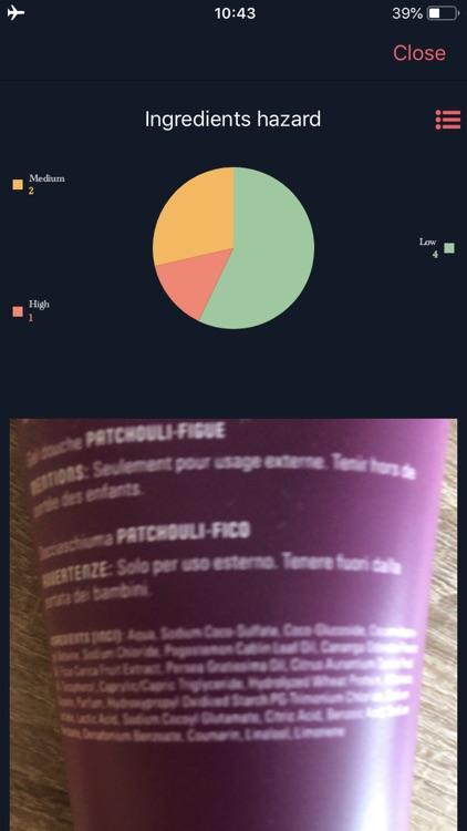 Ingredients Scanner screenshot-3