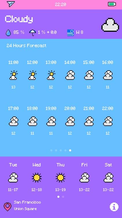 Pixel Weather - Forecast screenshot-6