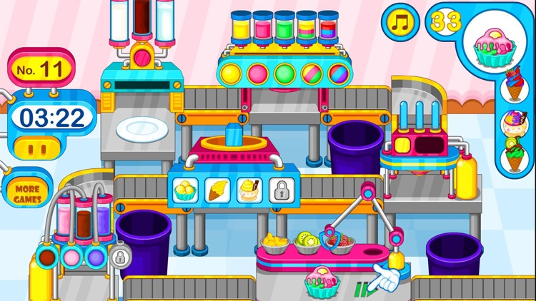 Cooking colorful ice cream screenshot-3