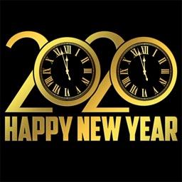 2020 Happy New Year - Stickers