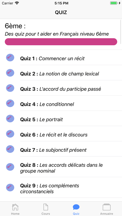 Cours de Français screenshot 3