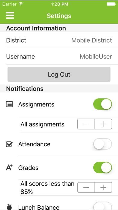 Infinite Campus Mobile Portal review screenshots