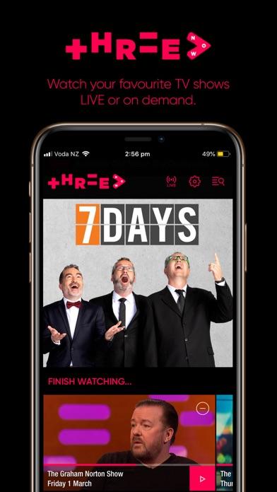 Screenshot for ThreeNow in New Zealand App Store