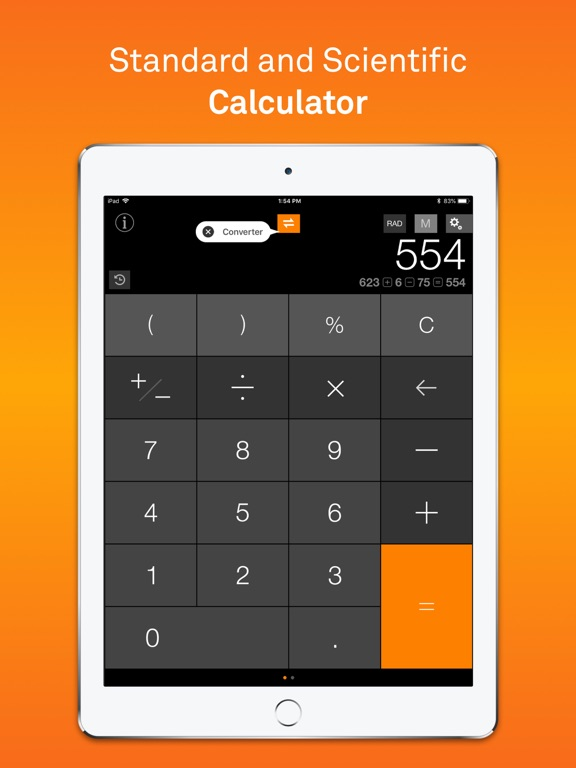 Calculator Free, Currency and Unit Converter - CalConvert screenshot