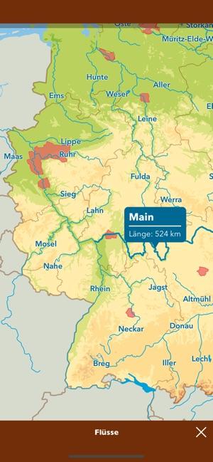 Deutschland Karte Flusse Und Gebirge.Unsere Welt Geographie Lernen Im App Store