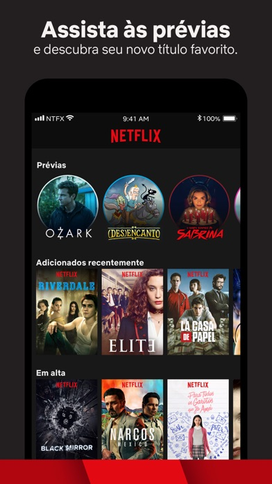 Screenshot for Netflix in Brazil App Store