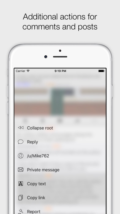 Antenna client for reddit Screenshot on iOS