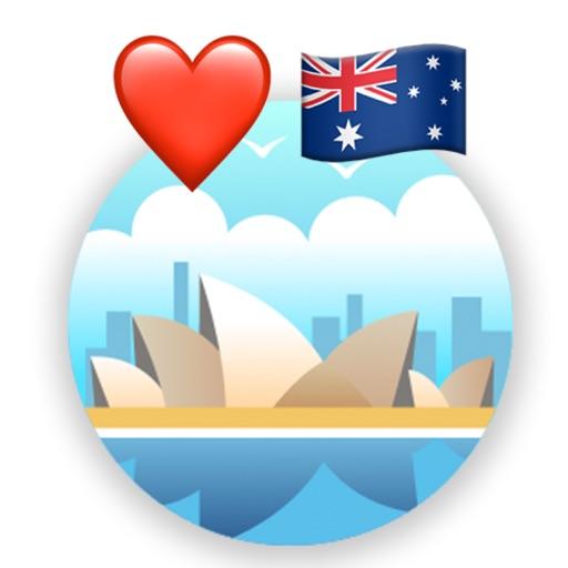 Love Australia Stickers