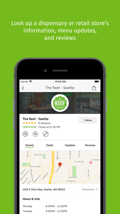Leafly: Marijuana Reviews App Report on Mobile Action - App Store