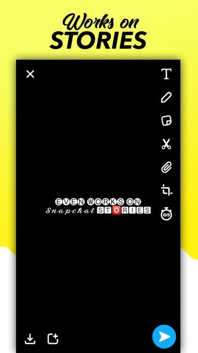 Fonts for Snapchat Keyboard Screenshot