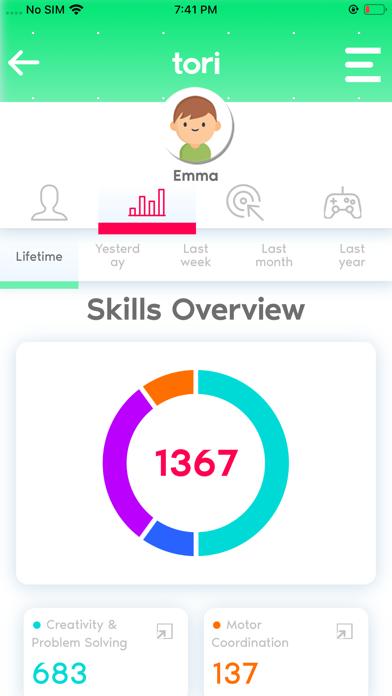 tori™ Dashboard screenshot 1
