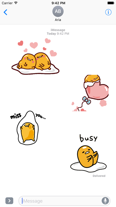 Animated Gudetama Egg Sticker screenshot 1