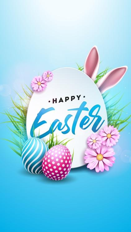 Happy Easter Bunny Stickers IM